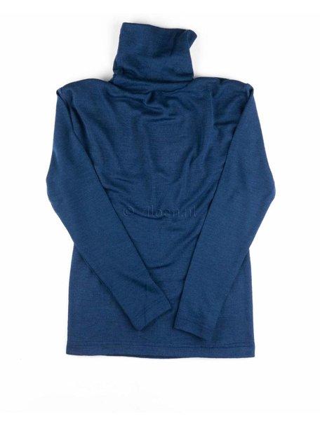 Cosilana  Kindershirt met colletje wol/zijde - blauw
