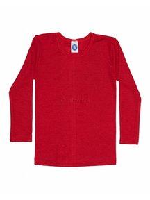 Cosilana Kindershirt van wol/zijde - rood
