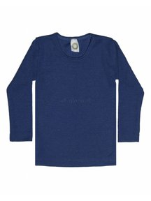 Cosilana Kindershirt van wol/zijde - blauw