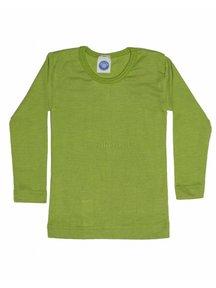 Cosilana Kindershirt van wol/zijde - groen