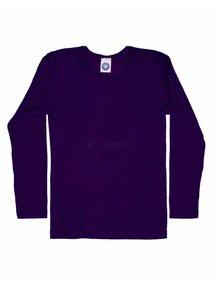 Cosilana Kindershirt van wol/zijde - paars