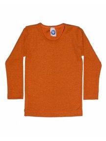 Cosilana Kindershirt van wol/zijde - oranje