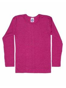 Cosilana Kindershirt van wol/zijde - roze