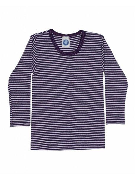 Cosilana Kindershirt gestreept van wol/zijde - paars