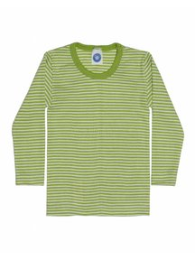 Cosilana Kids Longsleeve / Silk striped - green