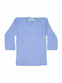 Cosilana Shirt van wol/zijde/katoen - blauw