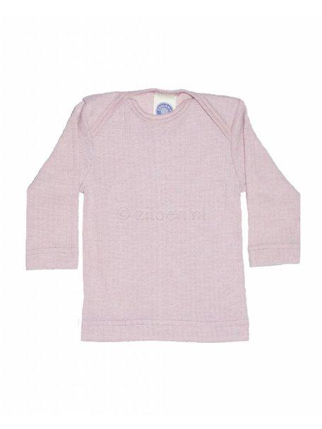 Cosilana Shirt van wol/zijde/katoen - roze