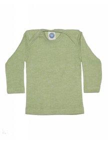 Cosilana Shirt van wol/zijde/katoen - groen