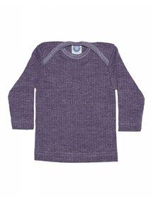 Cosilana Shirt van wol/zijde/katoen - paars