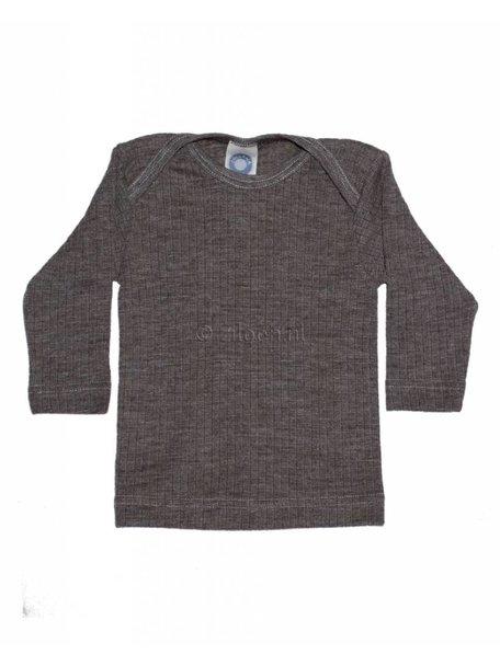 Cosilana Shirt van wol/zijde/katoen - bruin