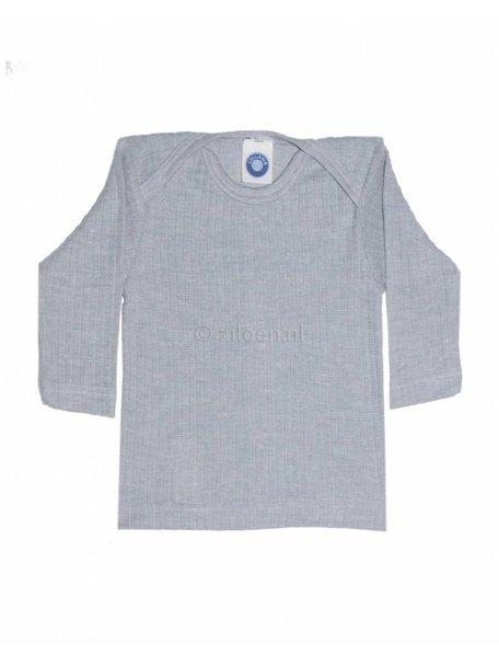 Cosilana Shirt van wol/zijde/katoen - grijs