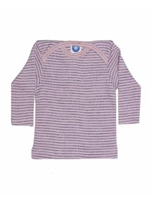 Cosilana Baby Top Wool/Silk/Cotton Striped - Pink/Purple
