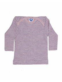 Cosilana Shirt van wol/zijde/katoen gestreept - roze/paars