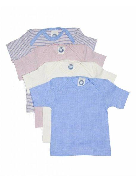 Cosilana Shirt met korte mouwen van wol/zijde/katoen - roze