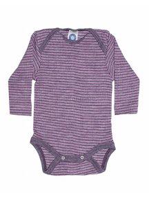 Cosilana Baby Body Wool/Silk/Cotton Striped - purple/pink
