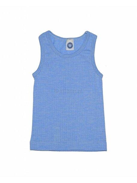 Cosilana Kinderhemd van wol/zijde/katoen - blauw