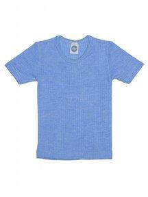 Cosilana Kids T-Shirt Wool/Silk/Cotton - Blue