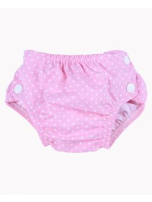 Popolini iobio Washable Swim Diaper Dotted - pink