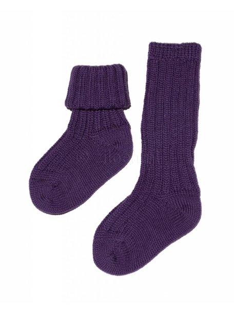 Grödo Dikke sokken van wol - paars