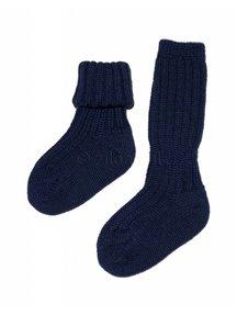 Grödo Dikke sokken van wol - donkerblauw