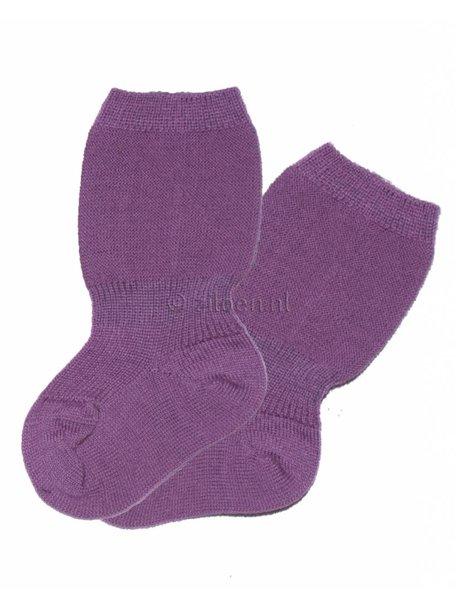 Grödo Wollen spekbeen sokken - lila