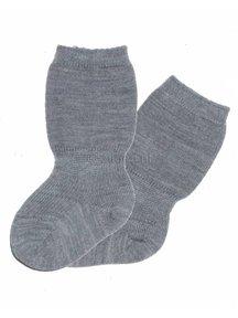Grödo Wollen spekbeen sokken - grijs
