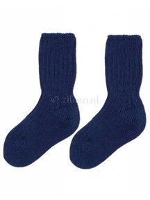 Grödo Dikke wollen kinder sokken - donkerblauw