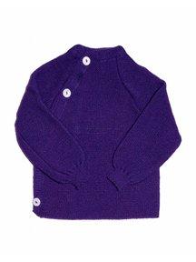 Reiff Cardigan Organic Wool - purple