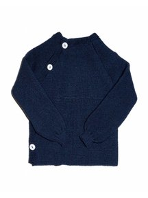 Reiff Cardigan Organic Wool - navy
