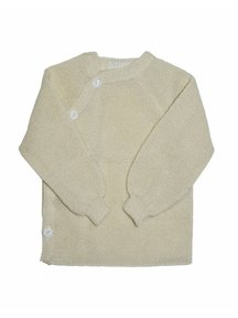 Reiff Cardigan Organic Wool - natural