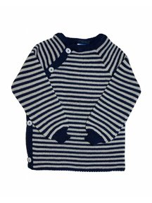 Reiff Cardigan Organic Wool - navy/natural