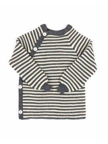 Reiff Cardigan Organic Wool - grey/natural