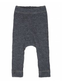 Joha heavy Rib pants - Dark  Grey Melange