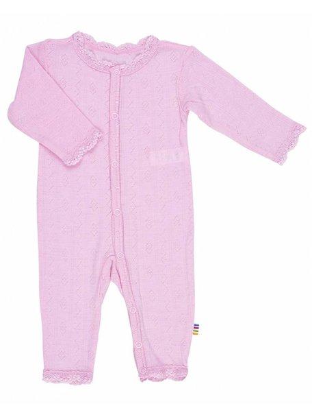 Joha Jumpsuit wol/zijde ajour - roze