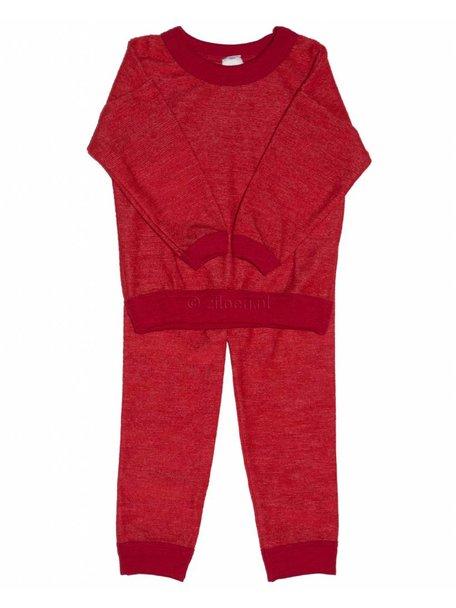 Cosilana Wollen kinder pyjama tweedelig - rood