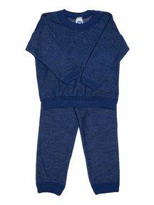 Cosilana Wollen kinder pyjama tweedelig - blauw