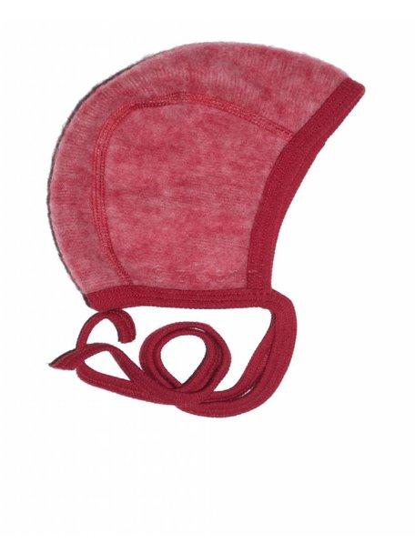 Cosilana Mutsje van wol-fleece - rood