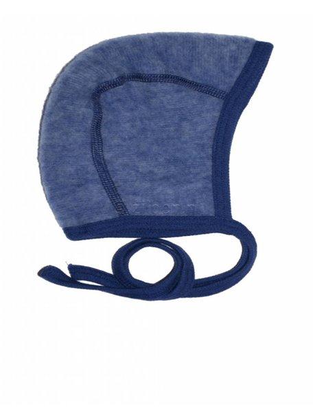 Cosilana Mutsje van wol-fleece - blauw