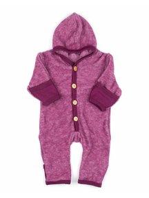 Cosilana Wool Fleece Overalls - burgundy