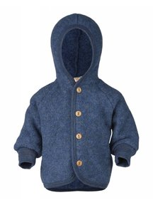 Engel Natur Jacket Wool Fleece - blue