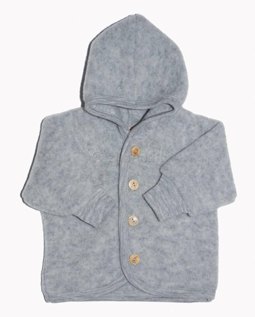 Fleece Jasje Baby.Jacket Wool Fleece Grey