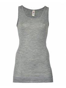 Engel Natur Sleeveless Vest Ladies Extra Long - grey