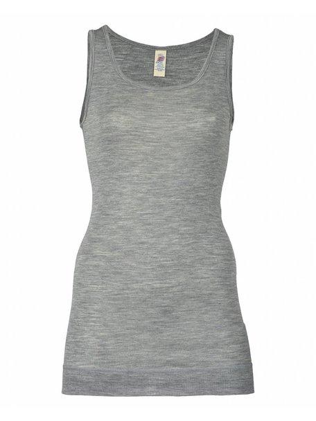 Engel Natur Dames hemd extra lang wol en zijde - grijs