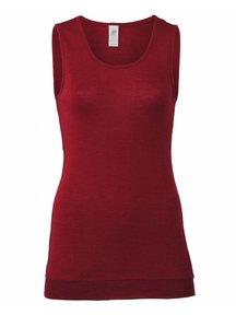 Engel Natur Dames hemd extra lang wol en zijde - rood