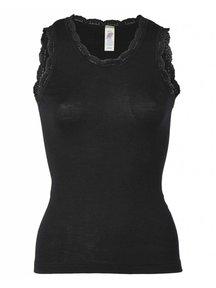 Engel Natur Sleeveless Vest Ladies Lace - black