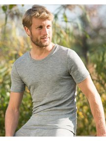 Engel Natur T-Shirt Men Wool / Silk - grey