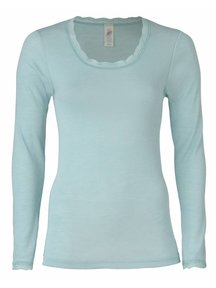 Engel Natur Longsleeve Women With Lace - glacier