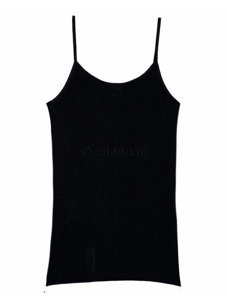 Cosilana Dameshemd wol/zijde met spaghettibandjes - zwart