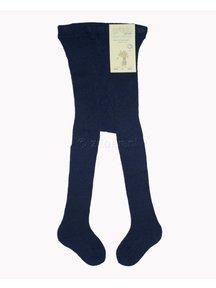 Grödo Thick woolen baby tights - dark blue
