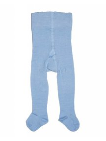 Grödo tights made of wool and cotton baby - light blue